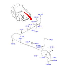 Насос омывателя Hyundai Tucson 1 (2004-2010)