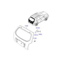 Крышка багажника Hyundai Tucson 1 (2004-2010)