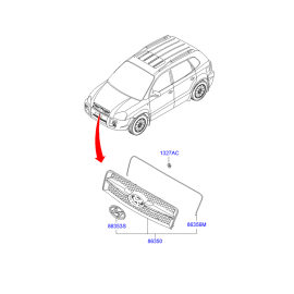 Решетка радиатора Hyundai Tucson 1 (2004-2010)