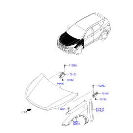 Крыло переднее правое Hyundai Santa Fe 3 (2012-н.в.)
