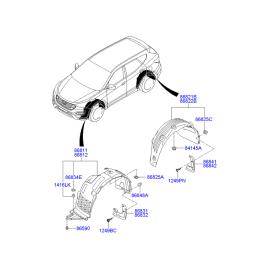 Подкрылок задний правый Hyundai Santa Fe 3 (2012-н.в.)