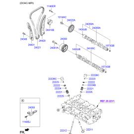 Направляющая цепи ГРМ правая Hyundai Elantra 4 (2006-2010)