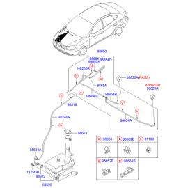 Бачок омывателя Hyundai Elantra 4 (2006-2010)