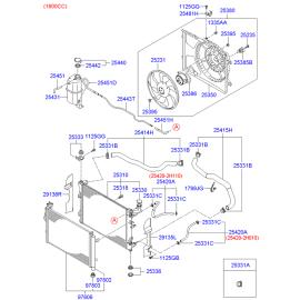 Патрубок радиатора верхний Hyundai Elantra 4 (2006-2010)