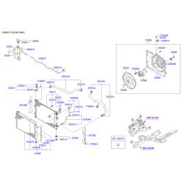 Патрубок радиатора нижний Hyundai Elantra 4 (2006-2010)