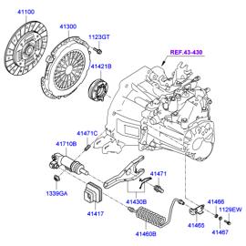 Цилиндр сцепления рабочий Hyundai Elantra 4 (2006-2010)