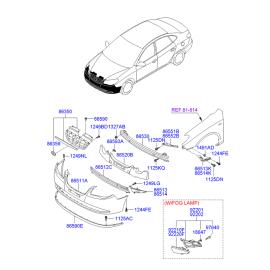 Бампер передний Hyundai Elantra 4 (2006-2010)