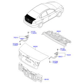 Крышка багажника Hyundai Elantra 4 (2006-2010)