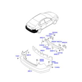 Усилитель бампера заднего Hyundai Elantra 4 (2006-2010)