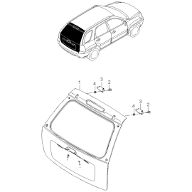 Крышка багажника KIA Sportage 2 (2004-2010)