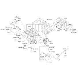 Прокладка впускного коллектора KIA Sportage 3 АКПП (2011-2015)