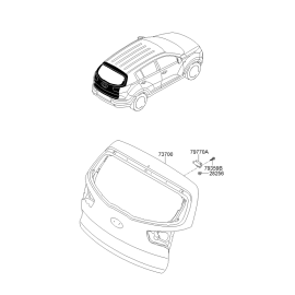 Крышка багажника KIA Sportage 3 (2010-2015)