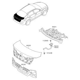 Крышка багажника KIA Optima 3 (2010-2016)