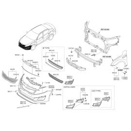 Бампер передний KIA Optima 3 (2010-2016)