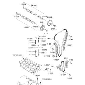Направляющая цепи ГРМ левая KIA Sportage 3 (2010-2015)