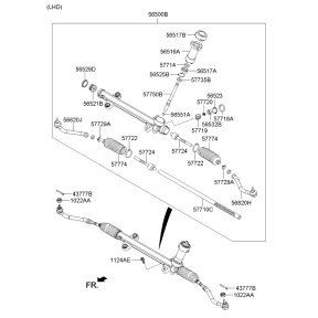 Рейка рулевая в сборе KIA Optima 3 (2010-2016)