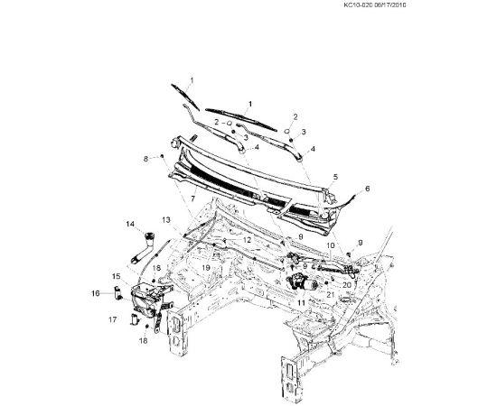 Бачок омывателя Chevrolet Spark M300 (2010-2015)
