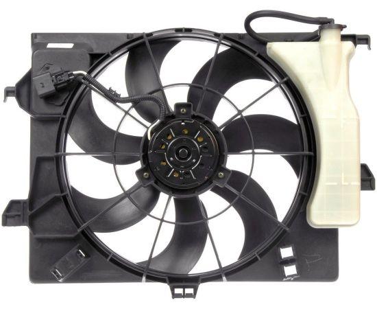 Вентилятор радиатора охлаждения в сборе с расширительным бачком KIA Rio 3 (2011-н.в.)