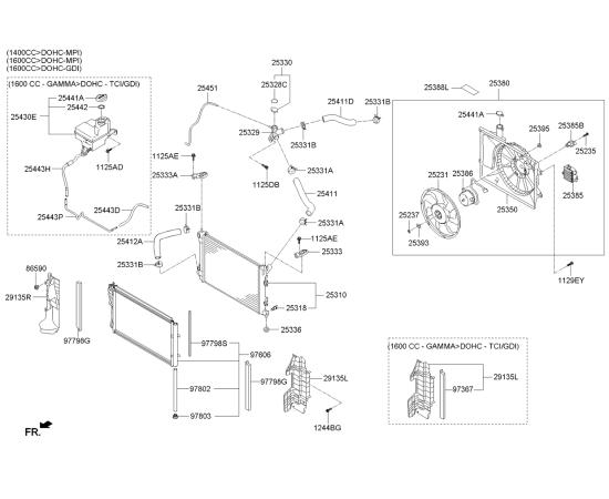 Патрубок радиатора верхний KIA Ceed 2 (2012-н.в.)