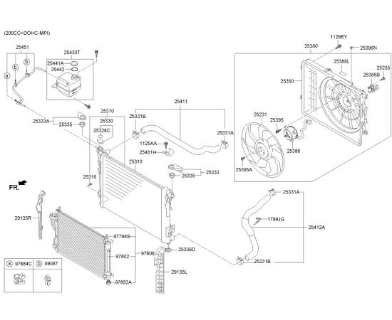 Патрубок радиатора верхний KIA Sportage 3 (2010-2015)