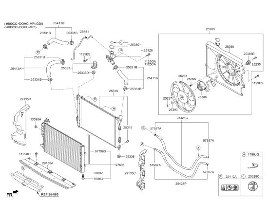 Патрубок радиатора верхний KIA Soul 2 (2014-н.в.)