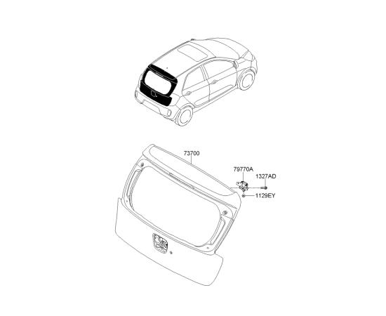 Крышка багажника KIA Picanto 2 (2011-н.в.)